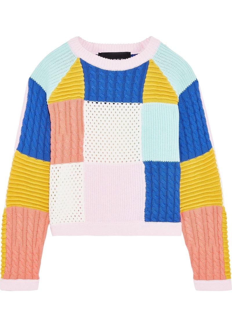 Paper London Woman Kimi Patchwork Cotton Sweater Multicolor