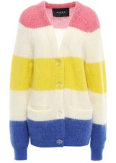 Paper London Woman Striped Knitted Cardigan Multicolor