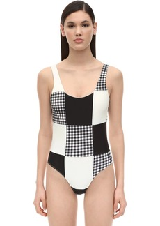 PAPER London Patchwork One Piece Swimsuit
