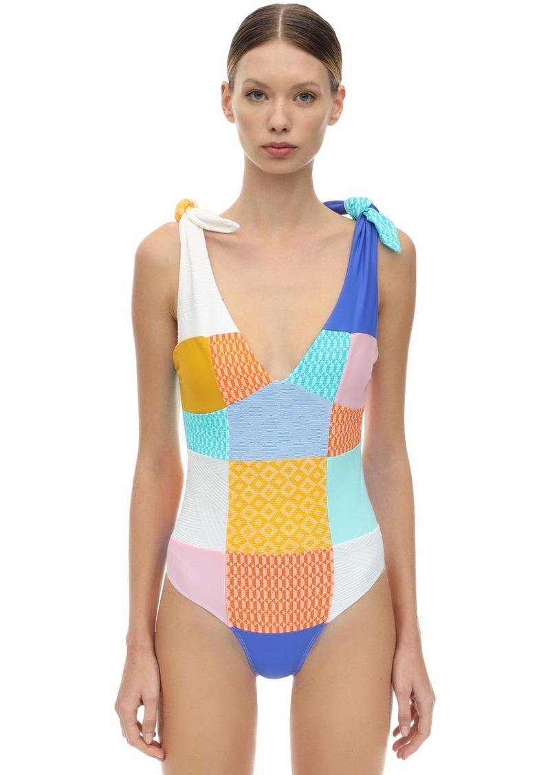 PAPER London Patchwork One Piece Swimsuit