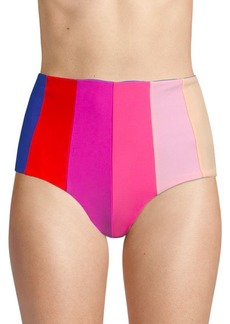 PAPER London Rainbow Sunshine High-Waist Bikini Bottoms