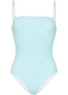 PAPER London stingray gingham swimsuit