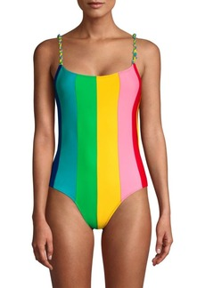 PAPER London Strappy Rainbow One-Piece Swuimsuit