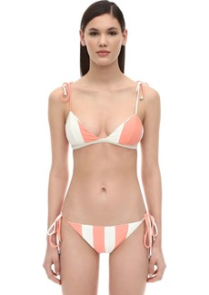 PAPER London Striped Bikini Top