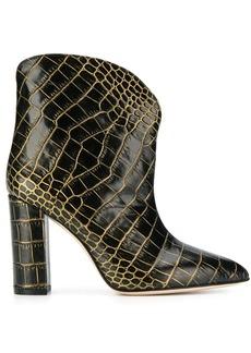 Paris Texas 100 crocodile-embossed ankle boots