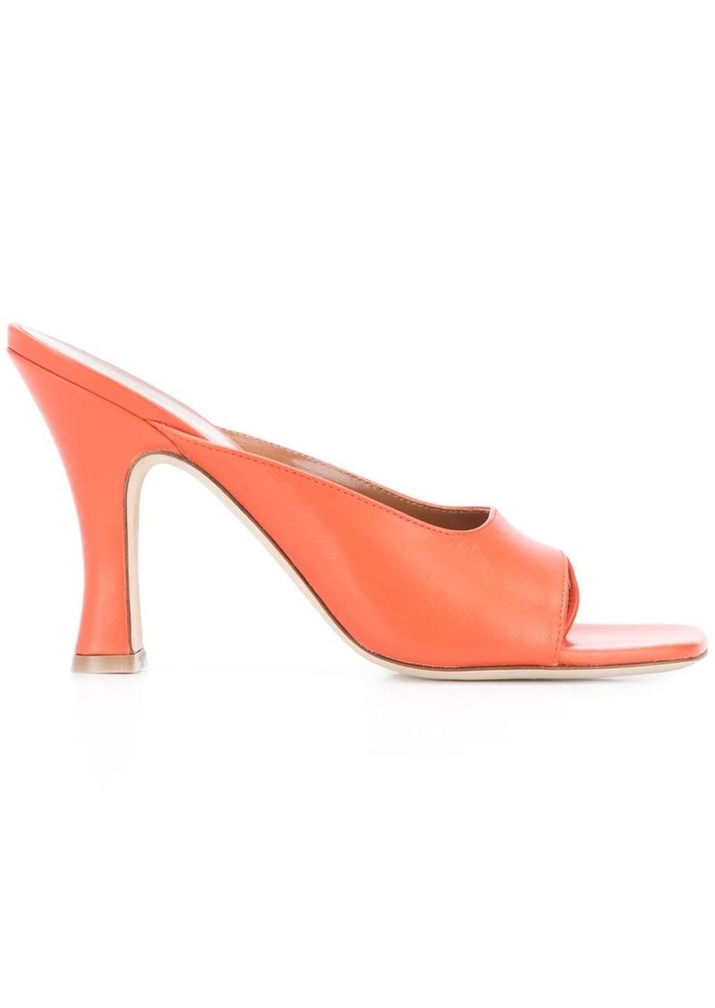 Paris Texas 100mm square toe sandals
