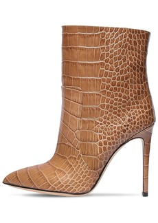 Paris Texas 105mm Croc Embossed Leather Boots