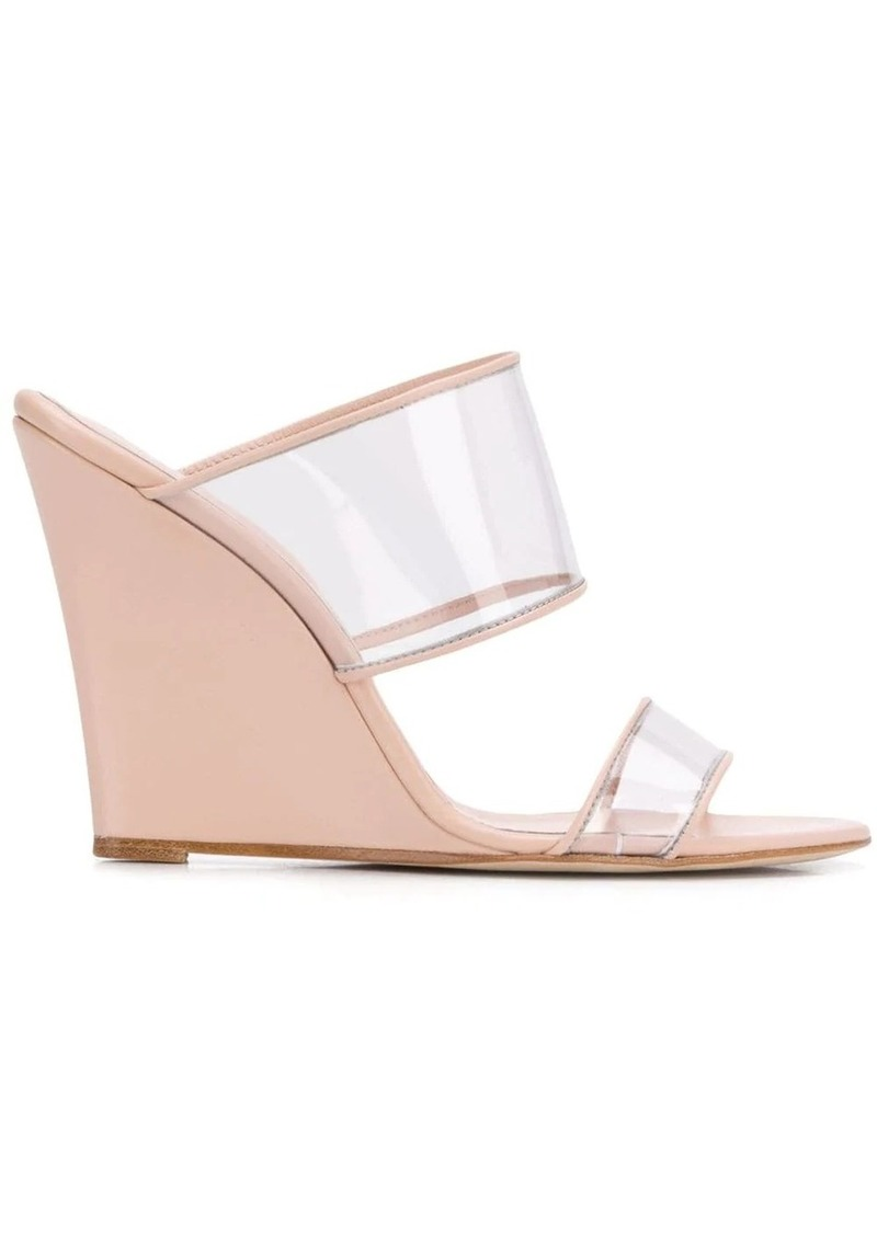 Paris Texas clear strap mules