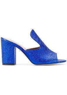 Paris Texas cracked effect slip-on sandals