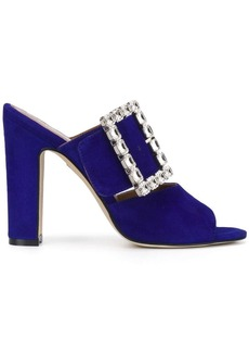 Paris Texas crystal buckle sandals