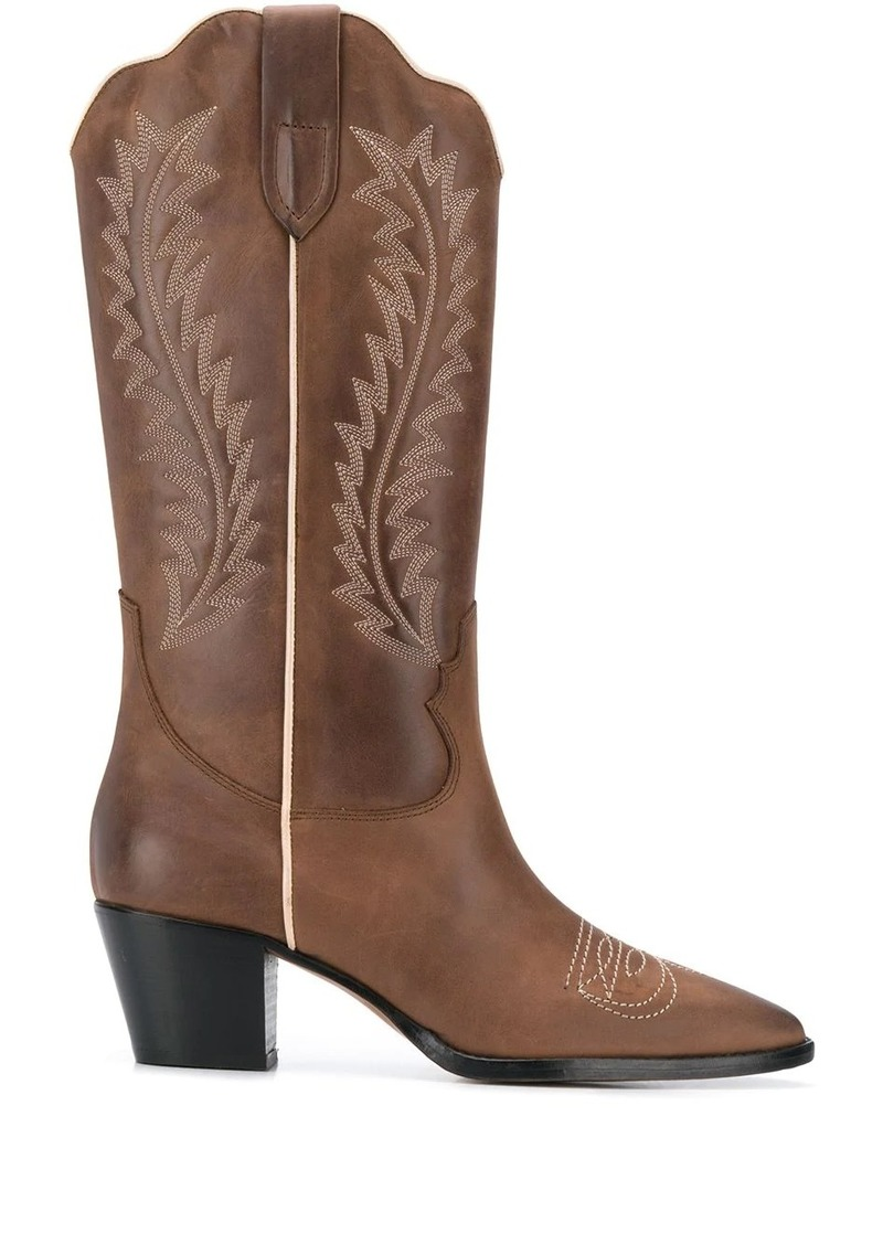 Paris Texas Elyse stitching detail cowboy boots
