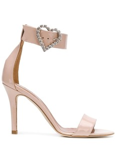 Paris Texas heart buckle sandals