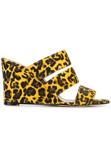 Paris Texas leopard mules