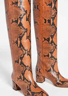 Paris Texas 50mm Python Print Boots