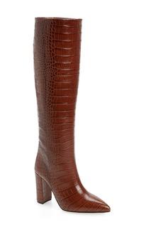 Paris Texas Croc Embossed Over the Knee Boot (Women)
