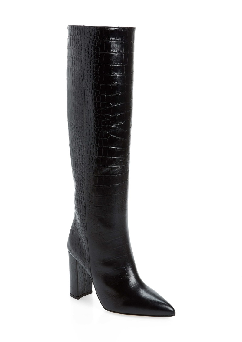 Paris Texas Croc Embossed Over the Knee Boot (Women)