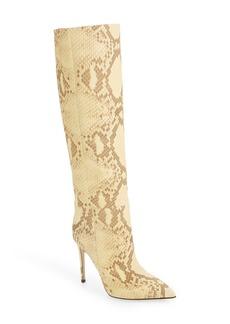Paris Texas Faded Python Print Knee High Boot (Women)
