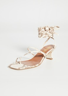 Paris Texas Faded Python Print Wrap Sandals