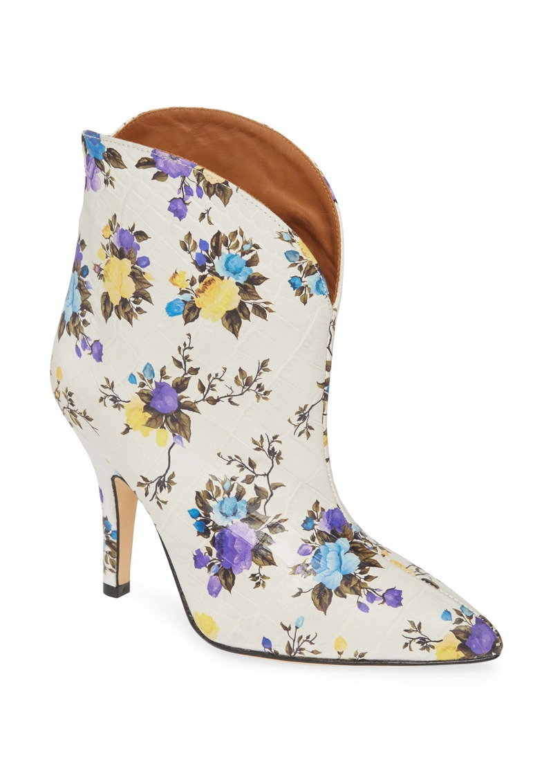 Paris Texas Floral Print Bootie (Women)