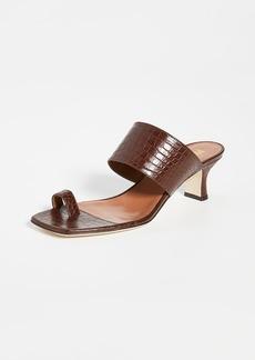 Paris Texas Moc Croco Thumb Ring Sandals