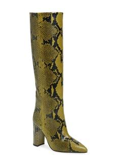 Paris Texas Python Print Block Heel Boot (Women)