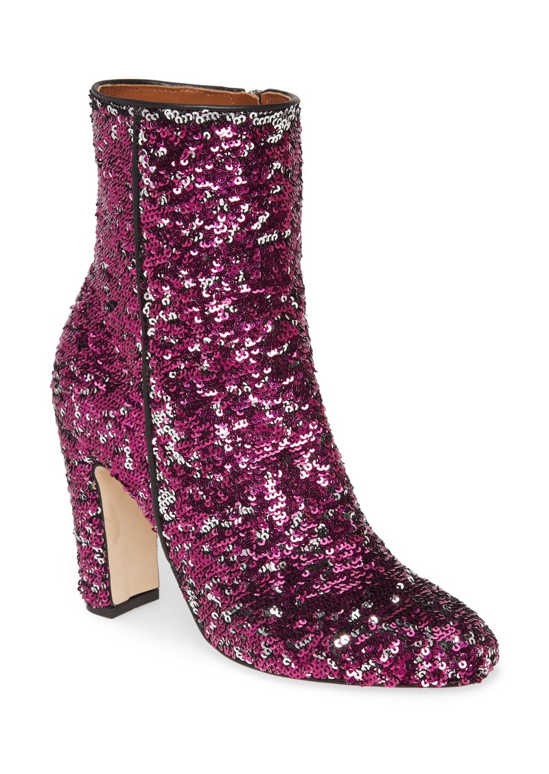 Paris Texas Reversible Sequin Bootie (Women)