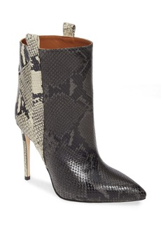 Paris Texas Snake Embossed Leather Bootie (Women)