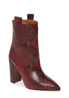 Paris Texas Snake Textured Leather Bootie