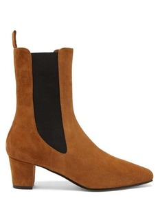 Paris Texas Square-toe suede Chelsea boots
