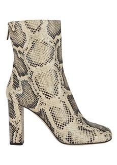 Paris Texas Python-Embossed Leather Booties