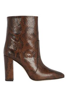 Paris Texas Python Embossed Leather Booties