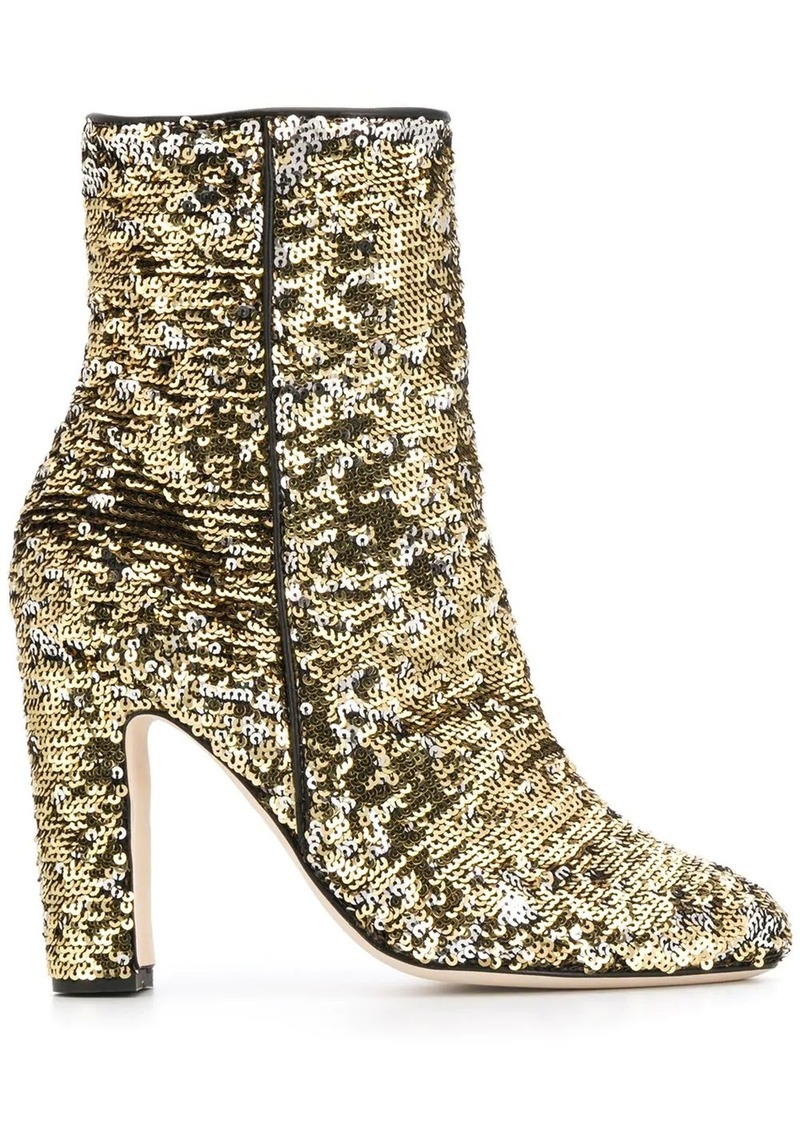 sequin-embellished ankle boots