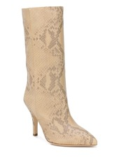 Paris Texas snake embossed 105mm boots
