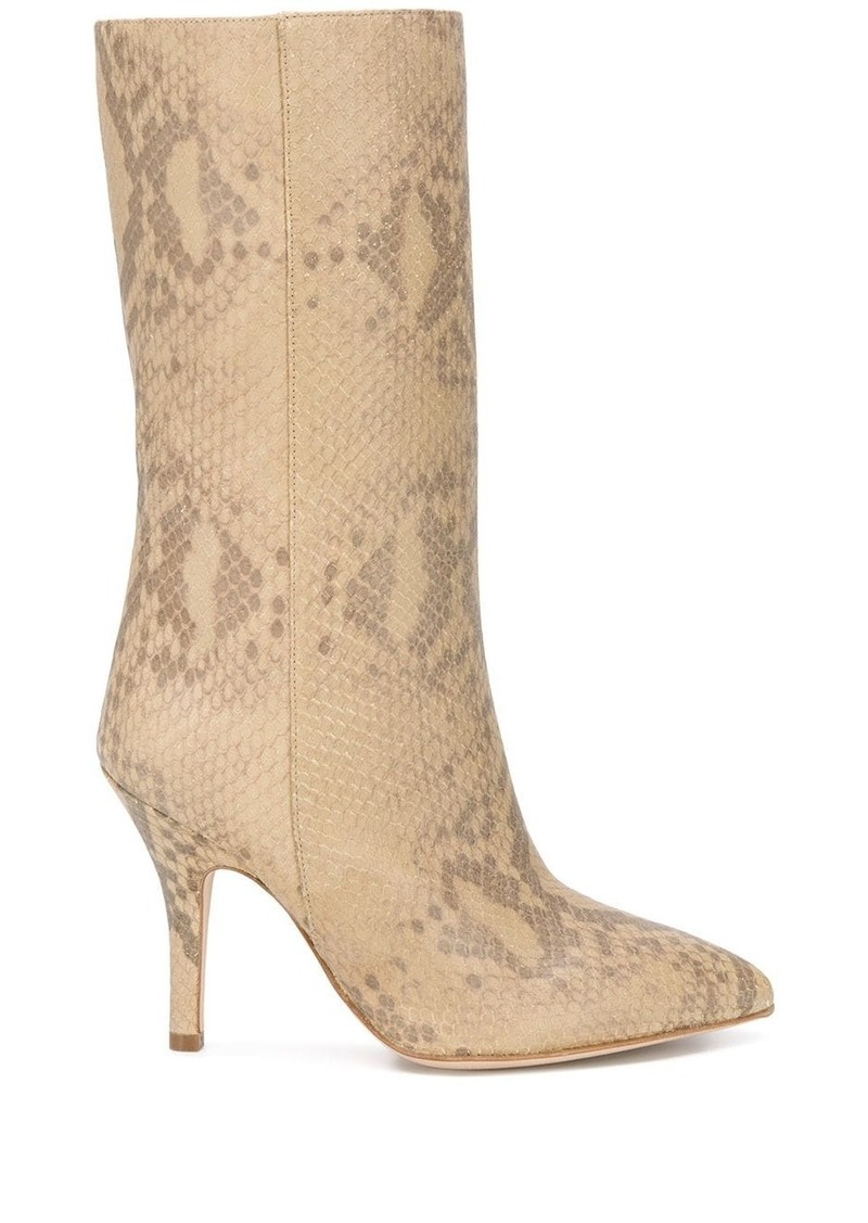 snake embossed 105mm boots