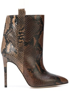 Paris Texas snakeskin effect stiletto boots