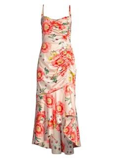 Parker Adriana Floral High-Low Midi Dress