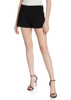 Parker Alden Mid-Rise Pleated Shorts