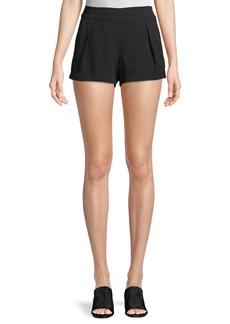 Parker Alden Mid-Rise Pleated Shorts