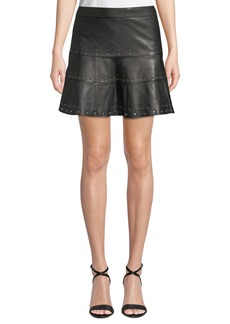 Parker Alex Studded Leather Mini Skirt