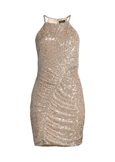 Parker Alina Sequin Mini Sheath Dress