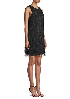 Parker Allegra Beaded Feather Dress