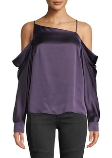 9aa4905da2b74f On Sale today! Parker Valentino Ruched Off-The-Shoulder Silk Blouse