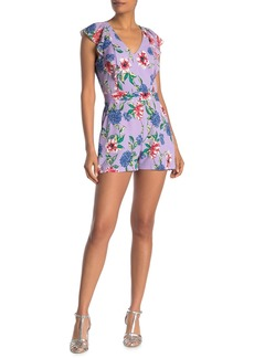 Parker Ana Combo Floral Print Ruffle Romper
