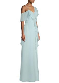 Parker Annie Asymmetric Ruffle Gown