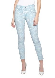 Parker Ava Leaf-Print Cropped Skinny Jeans