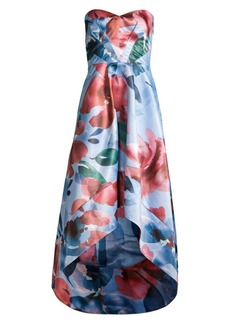 Parker Barcelo Floral Ruffle Gown