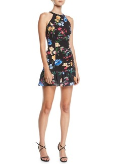 Parker Bella Floral Flounce Mini Dress