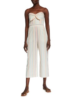 Parker Bohemia Striped Sweetheart Strapless Cropped Jumpsuit