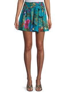 Parker Bridgette Floral Tie-Front Skirt