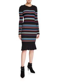 Parker Bruna Knit Striped Dress